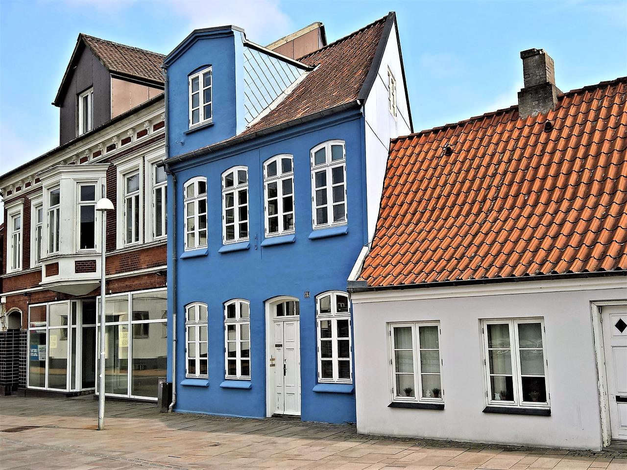 facade blå